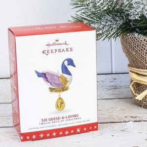 Hallmark 2016 Six Geese a Laying Ornament